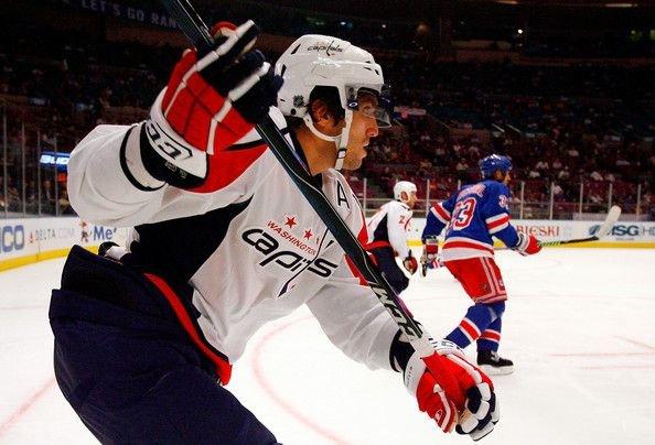 NHL » Alexander Ovechkin skates in preseason game
