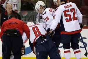 Alexander Ovechkin skates after knee injury, expected day-to-day
