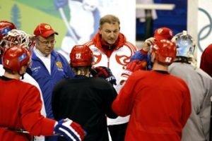 Ovechkin-Datsyuk-Semin, Kovalchuk-Malkin-Afinogenov and other lines at Team Russia practice