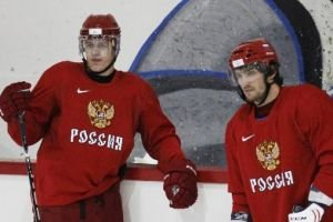 Team Russia latest news: Fedorov misses practice, Kovalchuk out of Malkin's line, Nabokov to start against Czechs